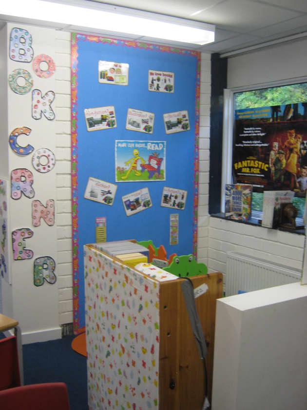 Book Corner Display Classroom Display Books Reading