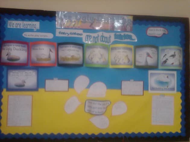 The Ugly Duckling Display, classroom display, ugly duckling, Story, nursery rhyme, reading, rhymes, Early Years (EYFS), KS1 & KS2 Primary Resources
