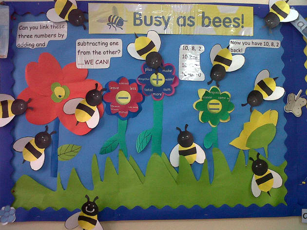 Primary Classroom Design Ideas ~ Numeracy busy as bees display classroom class
