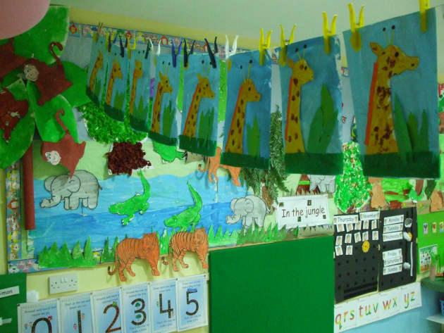 Creative Science Classroom Decorations ~ Jungle giraffe display classroom displays animal