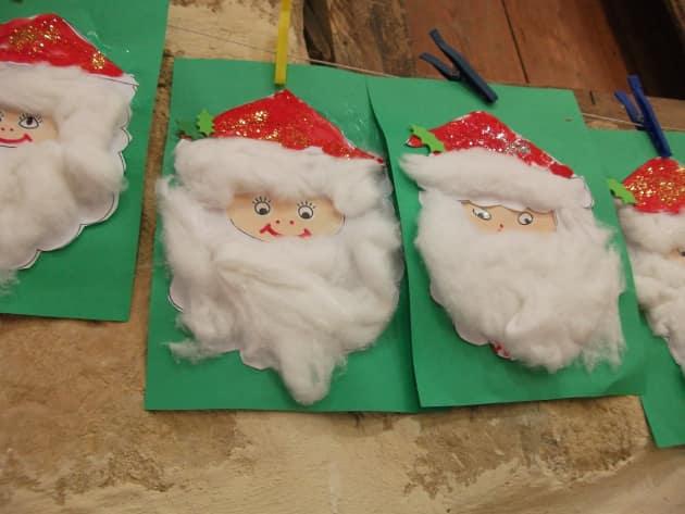 Santa Faces Display Classroom Display Christmas Father