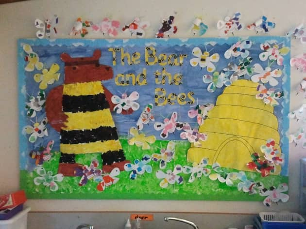 Bear and the Bees Display, classroom display, class display, Story, book, bear and the bees, bear, reading, Early Years (EYFS), KS1 & KS2 Primary Resources