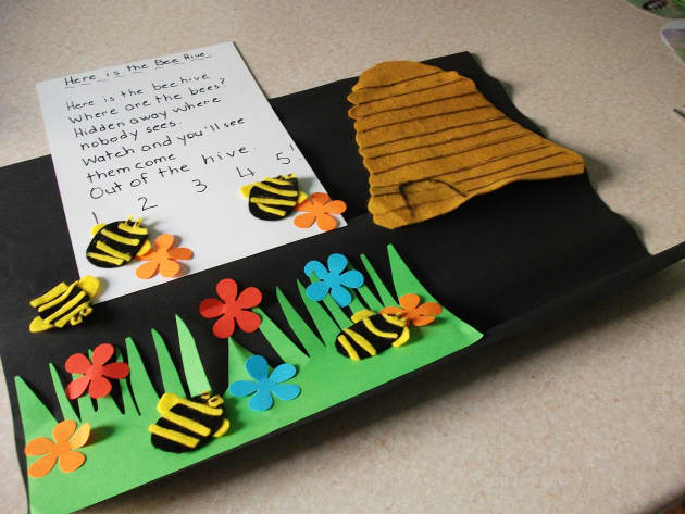 Five Bees Display, classroom display, class display, Story, counting, bees, bee hive, numeracy, maths, count,Early Years (EYFS),KS1 & KS2 Primary Resources