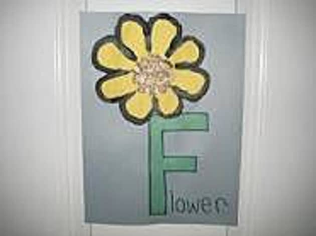 F for Flower Display, Classroom Display, class display, Letter, flower, alphabet, sounds, literacy, phonics,Early Years (EYFS), KS1 & KS2 Primary Resources