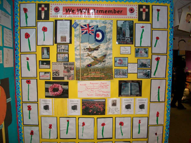 Remembrance Day Poppy Display, Classroom Display, class display, remember, poppy, WWI, world war, field, Early Years (EYFS), KS1 & KS2 Primary Resources