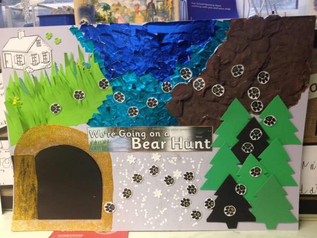 going on a bear hunt display  classroom display  hunt  adventure