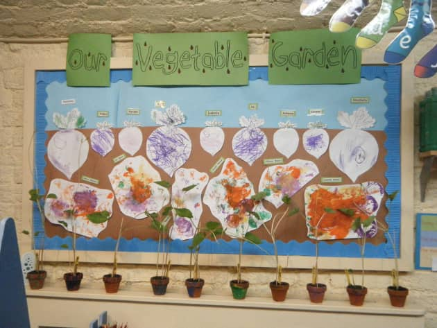 Our Vegetable Garden Display, classroom display, class display, Plants, vegetable, growth, growing, planting,Early Years (EYFS),KS1 & KS2 Primary Resources