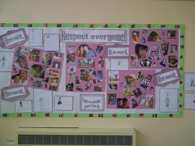 Respect Everyone Display, classroom display, class display, Ourselves, All About Me, bodies, race, racism, Early Years (EYFS), KS1 & KS2 Primary Resources