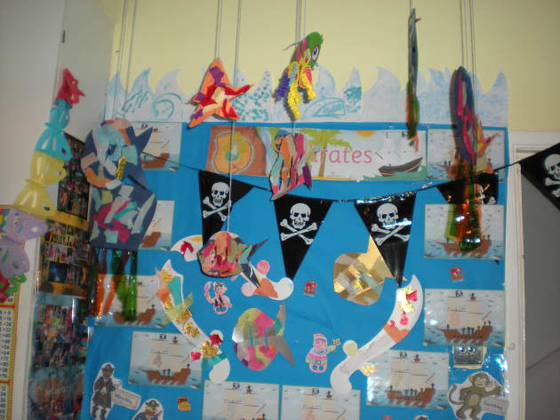 Outdoor Classroom Ideas Year 1 ~ Pirate display classroom pirates jolly