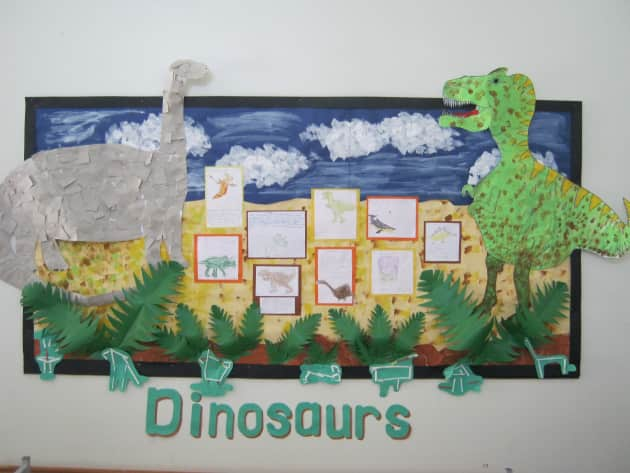 Dinosaur Display classroom displays dinosaur green