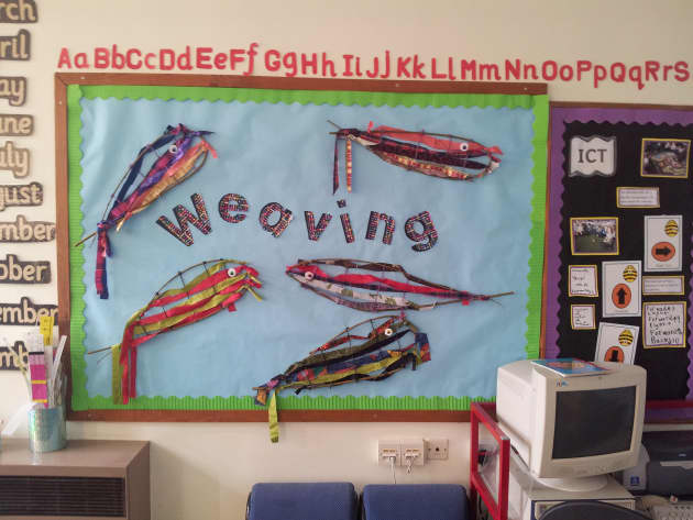 Weaving Display, Art and Colour, classroom displays, display, colour, creative, textiles, weave, Early Years (EYFS), KS1 & KS2 Primary Teaching Resources
