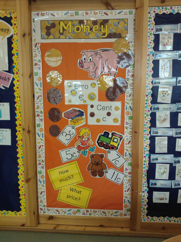 Money Display Classroom Display Counting Money Pounds