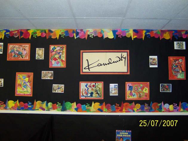Classroom Rules Design ~ Kandinsky display classroom artist abstract colour