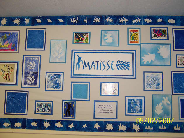 Matisse Display, classroom display, class display, artist, art, abstract, colour, painting, art and colour, Early Years (EYFS), KS1 & KS2 Primary Resources
