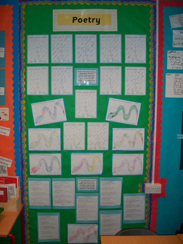 Poetry Display, classroom display, class display, poem, poetry, rhyme, rhymes, write, writing, poems, snake,Early Years (EYFS), KS1 & KS2 Primary Resources