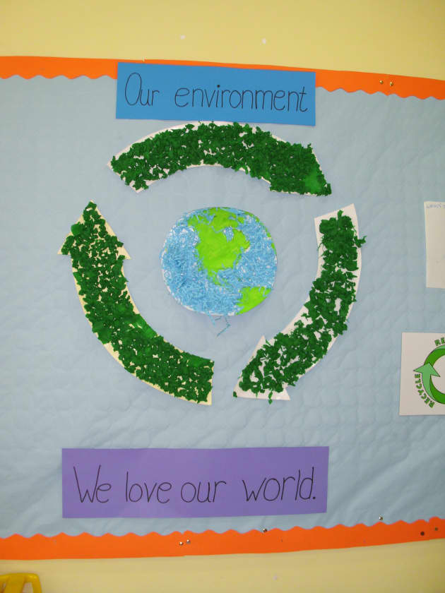 Our Environment Display, classroom display, class display, recycle, environment, our world, global warming, Early Years (EYFS),KS1 & KS2 Primary Resources