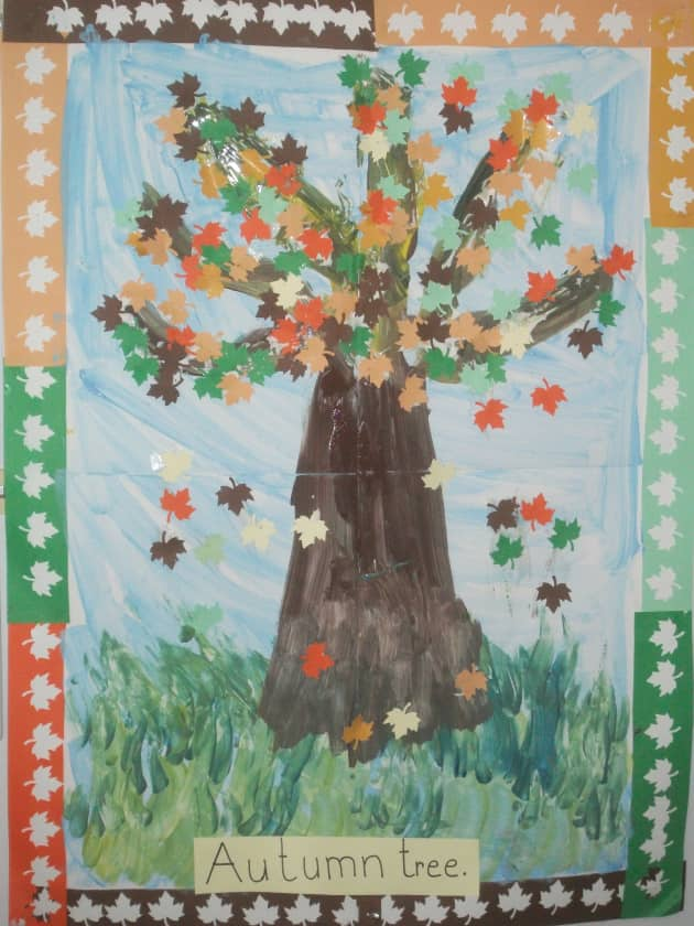 Autumn Trees Colour Display, classroom display, class display, autumn, the seasons, seasons, weather, trees, Early Years (EYFS),KS1 & KS2 Primary Resources