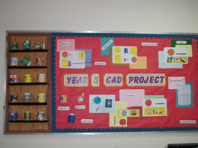 Classroom Display Design ~ Design and technology cad display class