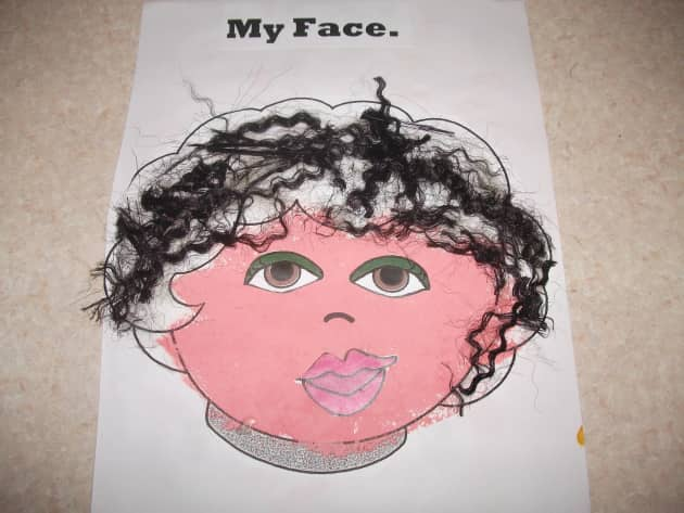 My Face Display, classroom display, class display, ourselves, portrait, painting, bodies, all about me, Early Years (EYFS), KS1 & KS2 Primary Resources