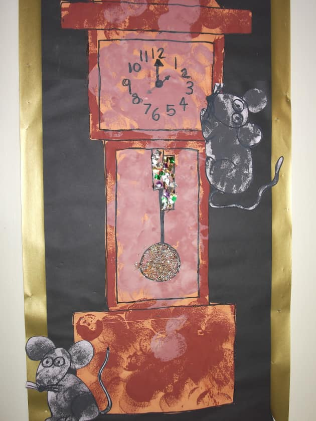 Hickory Dickory Display, classroom displays, class display, Nursery Rhyme, hickory dickory dock, clock,  Early Years (EYFS), KS1 & KS2 Primary Resource