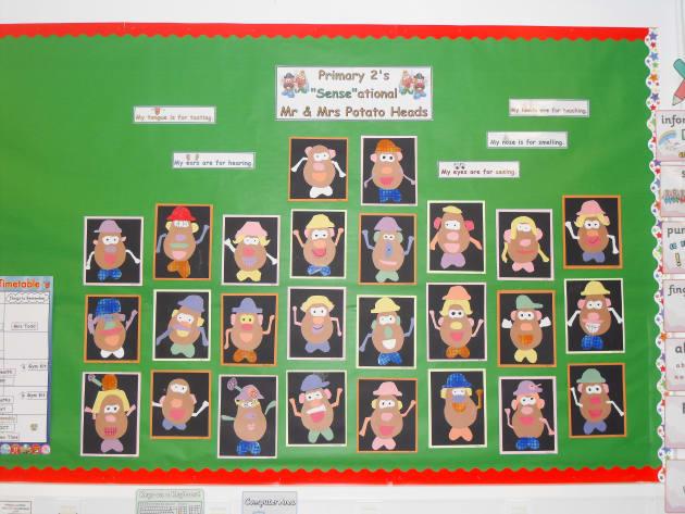 Classroom Layout Ideas Ks1 ~ Mr potato head display classroom displays colour