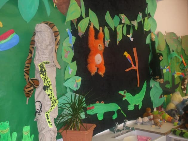 Animals in the Jungle Display, classroom displays, class display, animal, jungle, animals, gorilla,Early Years (EYFS), KS1 & KS2 Primary Teaching Resources