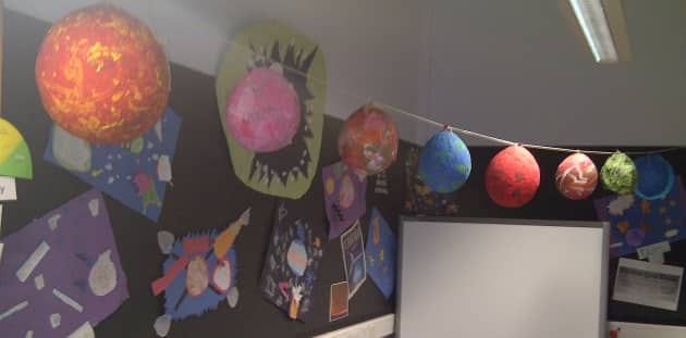 Classroom Rules Ideas ~ Planets art display classroom space sun