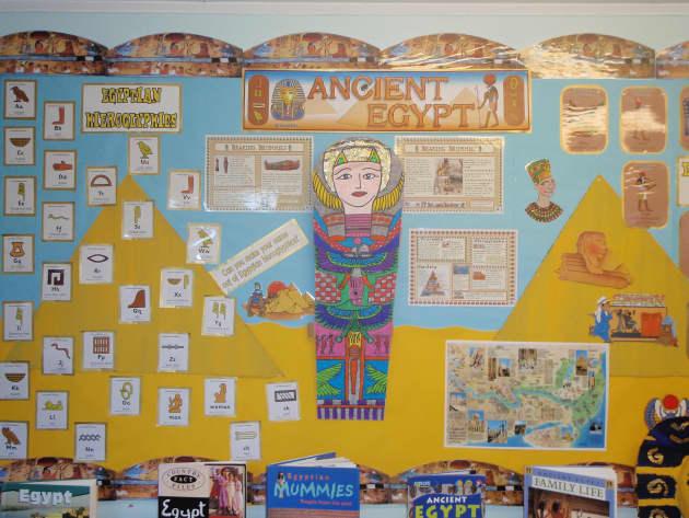 Modern Language Classroom Displays : Ancient egypt mummy display class