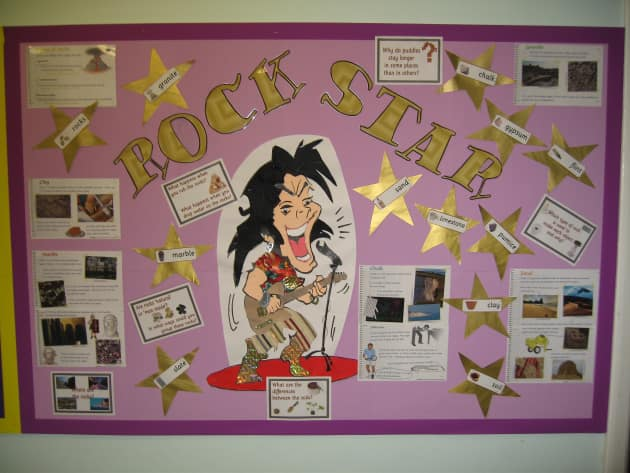 Rock Star Display, Classroom Display, class display, Rock Star, music, singer, singing, song, famous, Early Years (EYFS), KS1 & KS2 Primary Resources