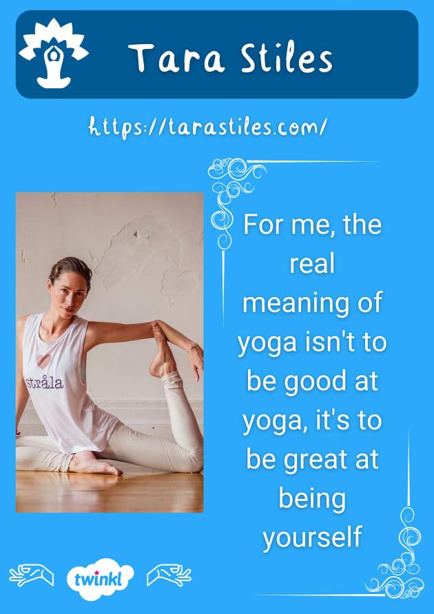Tara Stiles Strala yogi