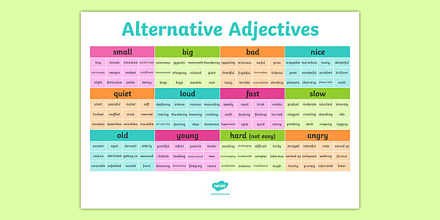 How To Teach Adjectives Twinkl Teaching Blog