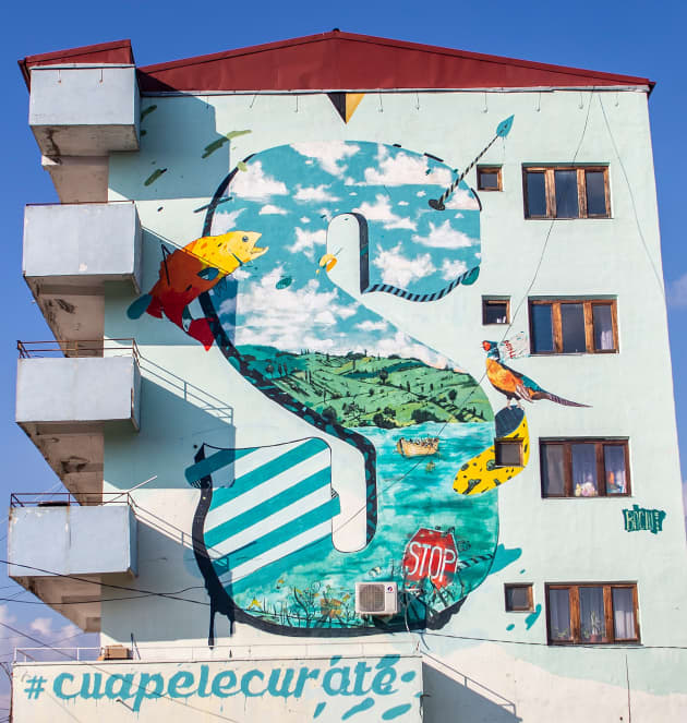 Mural eco Zimnicea