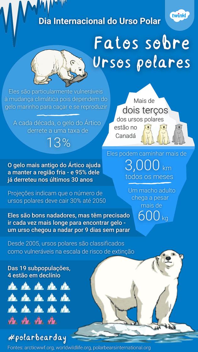 fatos e curiosidades sobre ursos polares