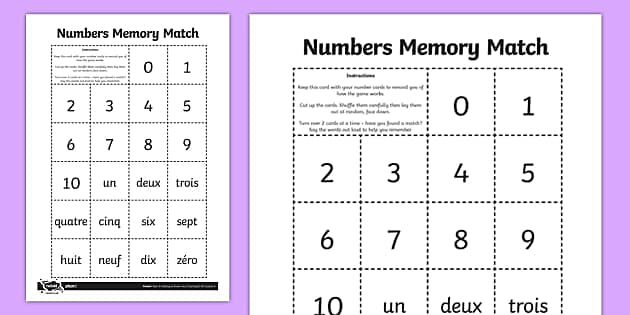 Un, Deux, Trois: How to Practise French Numbers - Twinkl