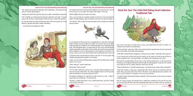 Twist The Text Little Red Riding Hood Collection