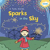 sparks in the sky - bonfire night, guy fawkes, fireworks, sparkler,  sparklers